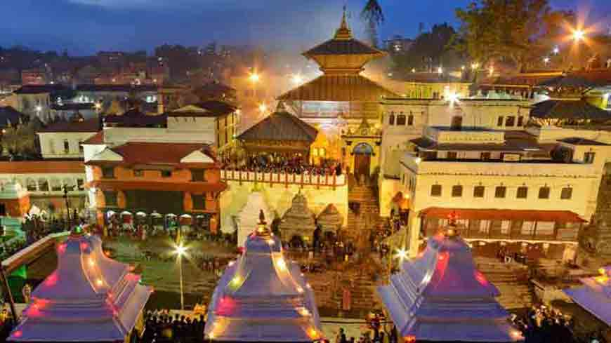 Night view Pashupati Temple