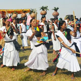 A group of woman celebrating their festival
